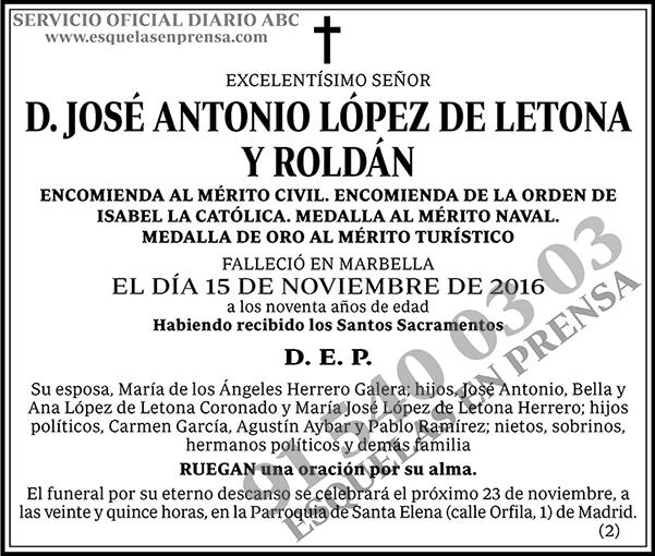 José Antonio López de Letona y Roldán